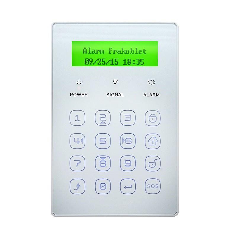 Alarm tastatur med nøglebrik