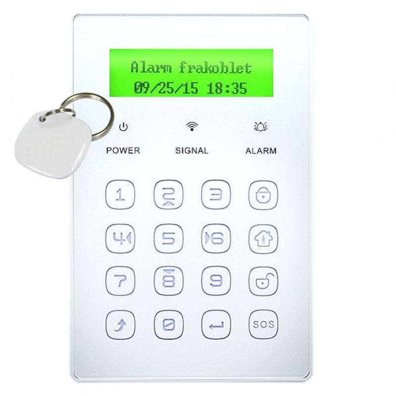 Tastatur med nøglebrik